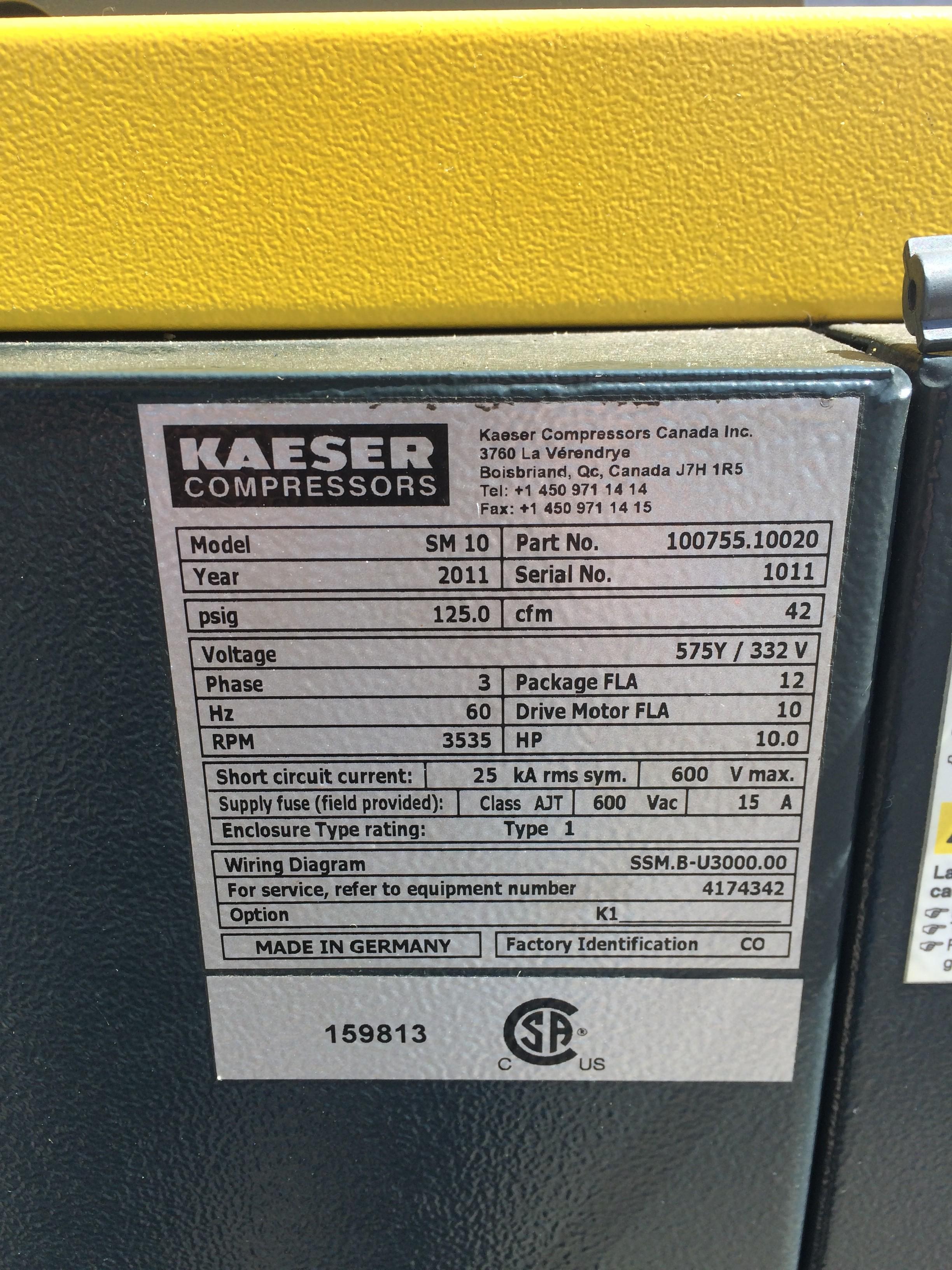Joy Compressor manual kaeser sm10 Price on